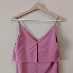 ASOS Mauve Pink Layered Mini Dress Size 4